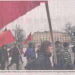 Mielenosoitus työntekijöiden oikeuksien puolesta