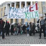 Opiskelumaksuja vastustava mielenosoitus